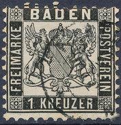 Stamp GermanStates Baden 1862 1kr  Used Lot#3 - Bade