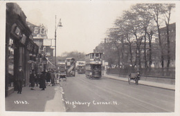 London - Highbury Corner N With Double-deck Tram - 1928     (171103) - London Suburbs