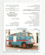 CALENDRIER , Petit Format , SAPEURS POMPIERS , 3 Scans , 1998 , Microfire , Dépot-vente Collection , Paris XIII E - Calendriers
