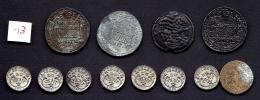 LOT 12 COPIES- MONNAIES DIVERSES ANCIENNES  OU ANTIQUES -  PAYS DIVERS- BELLES REPRODUCTIONS- - Monnaies