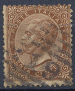 Stamp Italy 1863 Used Lot#12 - 1861-78 Vittorio Emanuele II