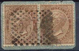 Stamp Italy 1863 Used Lot#14 - 1861-78 Vittorio Emanuele II