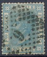 Stamp Italy 1867 Used Lot#20 - 1861-78 Vittorio Emanuele II