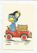 Cp, SAPEURS POMPIERS , Illustrateur , Signée Evert BROUWERS , Lithoyen , Pays Bas , Vierge ,ed : Fire Services - Andere Illustrators