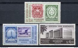 Ecuador 1958. Yvert A 327-29 ** MNH. - Equateur