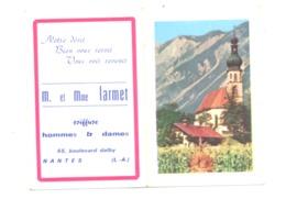 Petit Calendrier 1966 - Coiffeur, Coiffure M. Et Mme LARMET à NANTES, (Fr55) - Calendriers