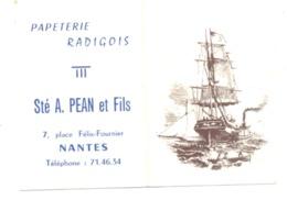 Petit Calendrier 1968 - Papeterie Radigois Sté A. PEAN & Fils à NANTES (Fr55) - Calendriers