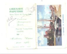 """Petit Calendrier 1963 - Librairie Papeterie """" Notre-Dame De Toutes Aides à NANTES -Auxerre (Fr55) - Calendriers"""