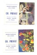 Petit Calendrier 1967 ( 2 Pièces) - Grande Pharmacie De La Poste Ch; PRIVAT à NANTES- DOULON  (Fr55) - Calendriers