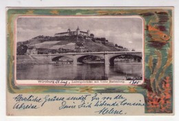 Cartolina/postcard Würzburg. Ludwigsbrucke Mit Veste Marienberg. 1910 - Wuerzburg