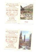 Petit Calendrier 1962 ( 2 Pièces) - Horlogerie, Bijouteire, Orfèvrerie G. SENEAU à NANTES  (Fr55) - Calendriers