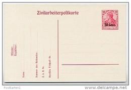 ETAPPE WEST  P 7  Postkarte  ** 1917  Kat. 3,50 € - Bezetting 1914-18