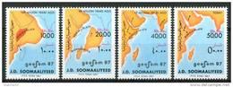 "1987 Somalia Mappe Cartes Maps ""Geosom 87"" Geologia Geology Gèologie Set MNH** - Somalia (1960-...)"
