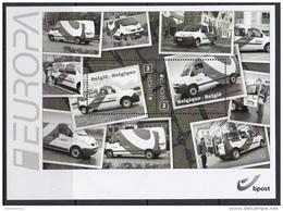 2013 - XX - Bl 205 - Bestelwagens Van Bpost / Camionnettes De Bpost -  (EUROPA) - Feuillets Noir & Blanc
