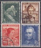 SUIZA 1941 Nº 371/74 USADO - Suiza