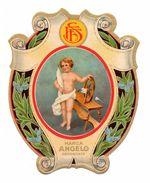 """06879 """"F.F.S. MARCA ANGELO - BAMBINO - ATTREZZO PER FILARE TESSUTO""""  ETICHETTA ORIGINALE - ORIGINAL LABEL - FOR THREADS - Adesivi"""