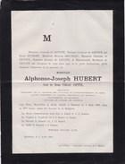 MONS BAUDOUR  Alphonse HUBERT Veuf COPPEE 76 Ans 1881 Notaire Bourgmestre Sénateur Famille BRUNEAU - Todesanzeige