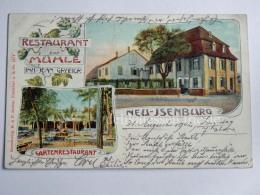 GERMANIA DEUTSCHLAND NEU ISENBURG Restaurant Muhle Gasthaus AK Old Postcard - Neu-Isenburg