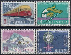 SUIZA 1962 Nº 689/92 USADO - Suiza