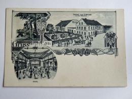 GERMANIA DEUTSCHLAND Grus Aus VIELAU Reinsdorf  Gasthof ERLENWALD Frohuch AK Old Postcard - Altri