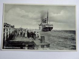 GERMANIA DEUTSCHLAND COXHAVEN Nordseebad SHIP Amerika Dampfers AK Old Postcard - Cuxhaven