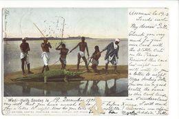 17969 - Wadi Halfa Soudan Pêche Au Crocodile (Etat Moyen) - Pêche
