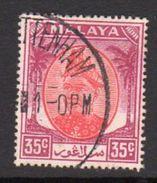 Malaya Selangor 1949-55 Sultan Alam Shah 35c Scarlet & Purple, Used, SG 105 - Selangor