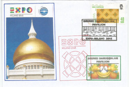 Palais Nurul Iman (résidence Du Sultan De Brunei), Lettre Du Pavillon De Brunei à L'Expo Universelle Milan 2015 (rare) - 2015 – Milan (Italy)