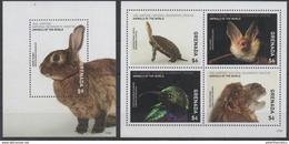 GRENADA, 2017, MNH, NATIONAL GEOGRAPHIC, TURTLES, RABBITS, BIRDS, BATS, CAMELS,  SHEETLET+SS - Turtles