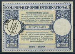 INDE / INDIA London Type XVIn 50 NAYE PAISE International Reply Coupon Reponse Antwortschein IRC IAS  O BOMBAY 29.12.58 - Briefe