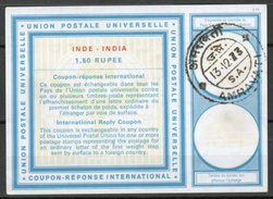 INDE / INDIA Type XX  1.50 RUPEE International Reply Coupon Reponse Antwortschein IRC IAS O AMRAVATI 13.12.73  - Briefe