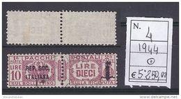 Due Sezioni, Fascio Littorio Soprastampati Repubblica Sociale - Pacchi Postali - - Pacchi Postali