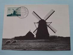 ACHTKANTE ZUID-HOLLANDSE POLDERMOLEN Alkemade - 1963 ( Zie Foto ) ! - Cartes-Maximum (CM)