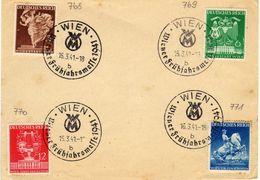 Drittes Reich Mi 768-771 Auf Umshlag Mit SST (Wiener Messe) [180515KI] - Briefe U. Dokumente