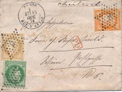Lettre N°38+53+55 Paris Rue D'antin Etoile 8 Pour L'Autriche - 1849-1876: Période Classique