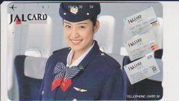 JAPAN - FREECARDS-0051 - 110-150962 - VISA - BANKCARD - WOMAN - JAL CARD - AIRLINE - Japan