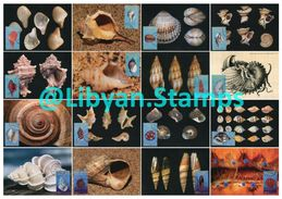 LIBYA - 1985 Shells (16 Maximum-cards) - Coneshells