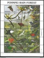 1991 MICRONESIE 176-93** Oiseaux, Fleurs, Lézard - Micronésie
