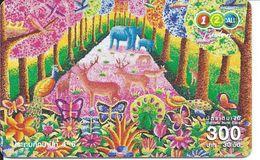 éléphant Elephant Papillon Animal Carte Card  (D 171) - Thaïlande