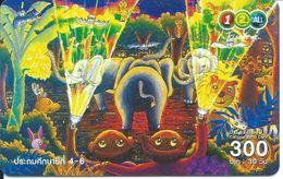 éléphant Elephant Papillon Animal Carte Card  (D 172) - Thaïlande