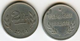 Belgique Belgium 2 Francs 1944 Belgique-Belgie KM 133 - 1934-1945: Leopold III