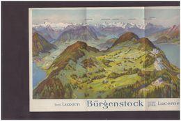 LUZERN SUISSE - BÜRGENSTOCK - DEPLIANT EN 5 VOLETS - TB - Dépliants Turistici