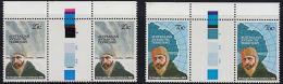 A5841 AUSTRALIAN ANTARCTIC TERRITORY 1982, SG 53-4 Centenary Sir Douglas Mawson, MNH Gutter Pairs - Territoire Antarctique Australien (AAT)