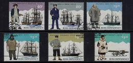 C0107 ROSS DEPENDENCY 1995, SG 32-37 Antarctic Explorers, Used - Ross Dependency (New Zealand)