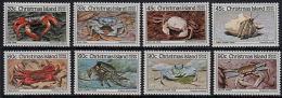 D5010 CHRISTMAS ISLAND 1985, SG 199-206  Crabs (series 2 & 3)  MNH - Christmas Island