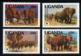 Uganda 1991: African Elephant (Loxodonta Africana) ** MNH - W.W.F.