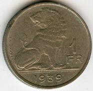 Belgique Belgium 1 Franc 1939 Belgïe-Belgique KM 120 - 1934-1945: Leopold III
