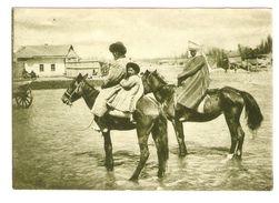 Russia. Asia. Types. Kirgizstan. Kirgizian Family. Horses. - Turkmenistan