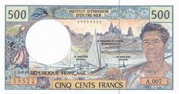 TERRITOIRES FRANCAIS DU PACIFIQUE I.E.O.M. BILLET 500 FRANCS - NEUF (2 Scan) 2 - French Pacific Territories (1992-...)