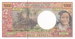 TERRITOIRES FRANCAIS DU PACIFIQUE I.E.O.M. BILLET 1000 FRANCS - NEUF (2 Scan) 2 - French Pacific Territories (1992-...)